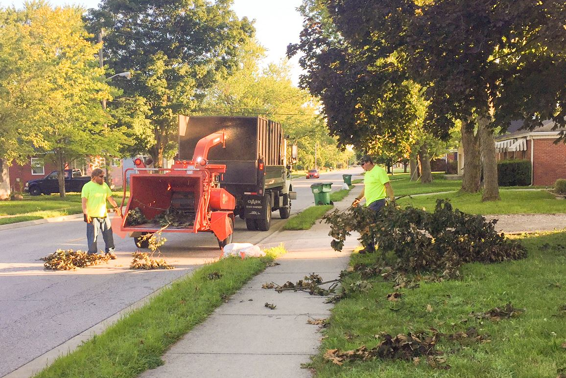 Street Department Crew Removing Limbs